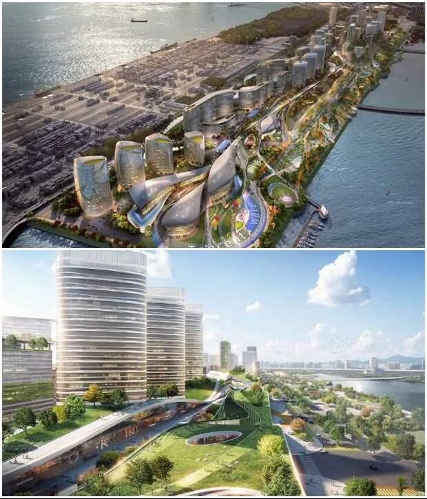 В Китае планируют построить футуристический «умный» город, в котором не будет автомобилей