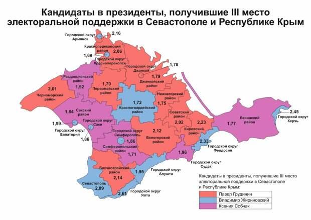 География и рекорды электоральной поддержки кандидатов в Крыму и Севастополе 5