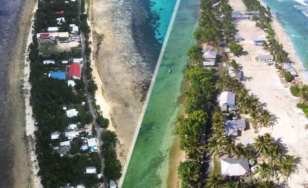 """Так выглядят некоторые """"жилые зоны"""" Тувалу"""