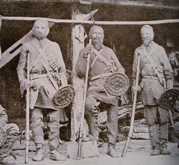 Туркменские солдаты. Фотография 1881 года