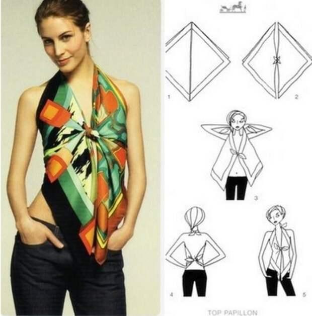 10 вариантов использования платка
