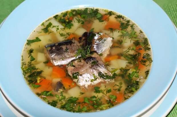 Супчик из рыбной консервы Авральный супчик
