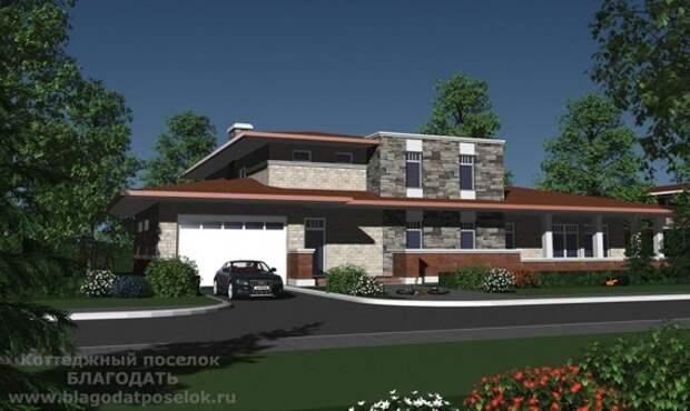 Проект типового дома площадью 700 метров в коттеджном поселке Благодать