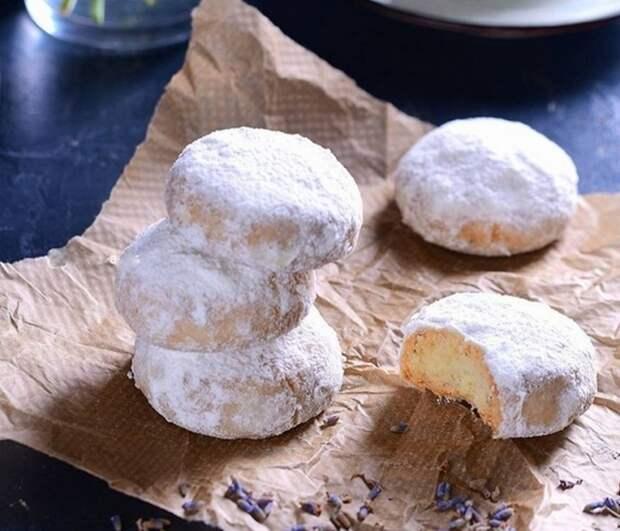 Нежное РАССЫПЧАТОЕ ЛАВАНДОВО-КОКОСОВОЕ печенье