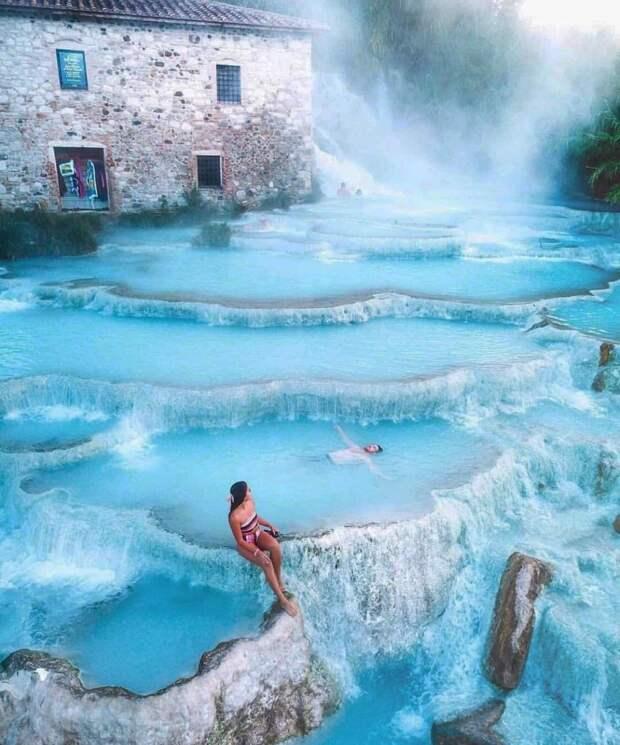 Фантастическая красота термов Сатурнии: голубая лагуна, как рай наземле