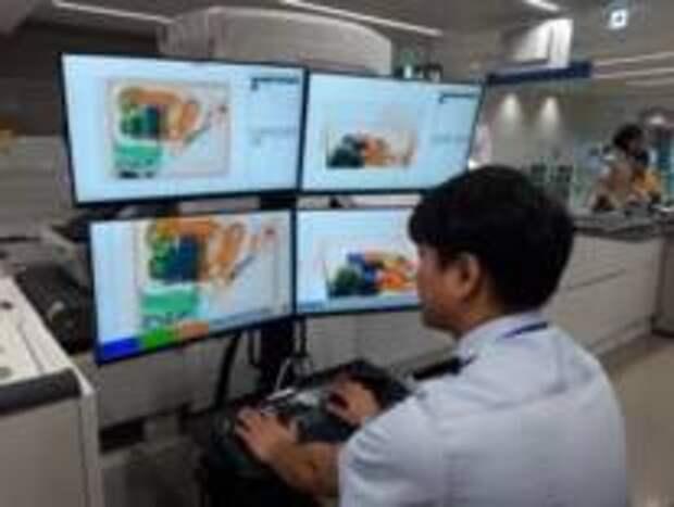 Сканирование багажа искусственным интеллектом
