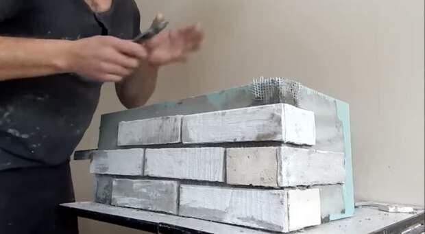 Превратите обрезки и остатки гипсокартона в кирпичную кладку