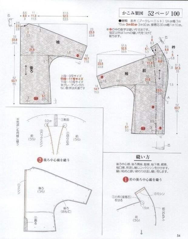 Азиатская выкройка пальто-накидки