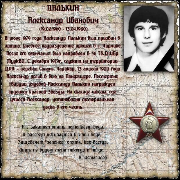 Рядовой ПАЛЬКИН Александр Иванович