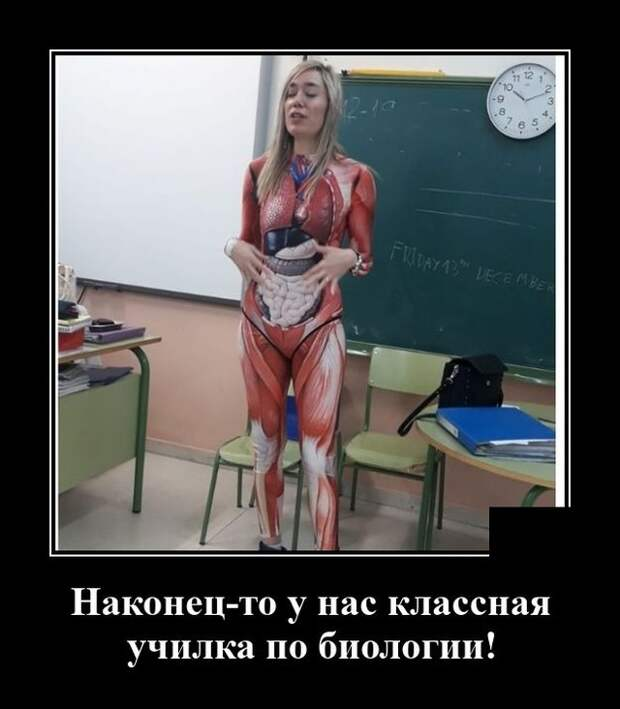 Демотиватор про анатомию
