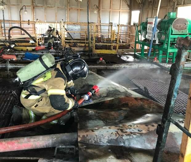 В Сарапульском районе произошёл пожар на нефтяном месторождении