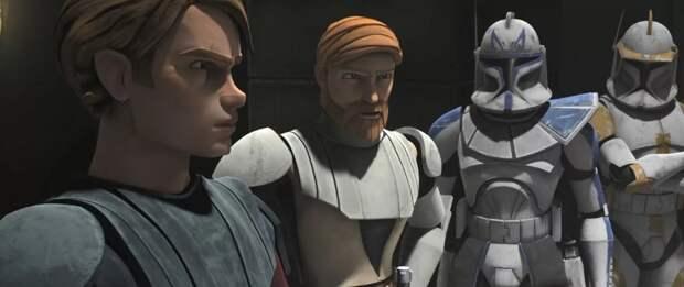 Энакин, Оби-Ван, Рекс и Коди