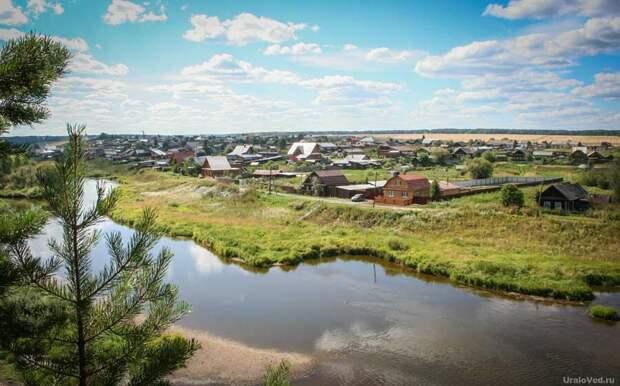Нижнее Село в наши дни. Вид с камня Шайтан