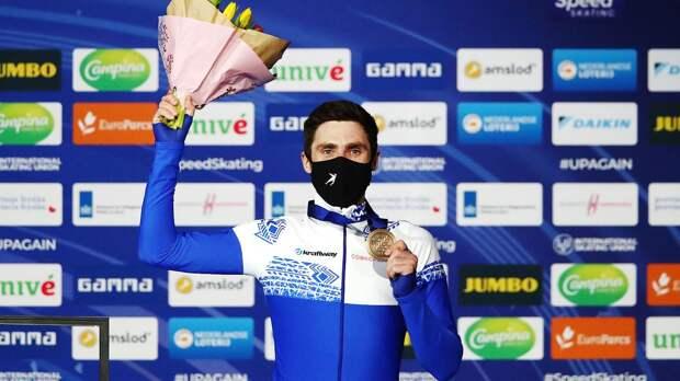 Конькобежец Румянцев — о бронзе на ЧМ-2021: «Очень давно шел к этой медали, преследовали 4-5 места»