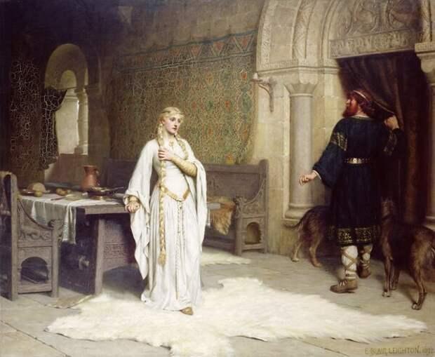 """Эдмунд Лейтон (1853 - 1922). """"Годива"""""""