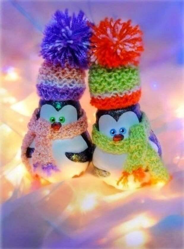 Ёлочные игрушки или вторая жизнь лампочки!
