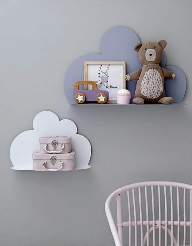 Облака на стене в детской