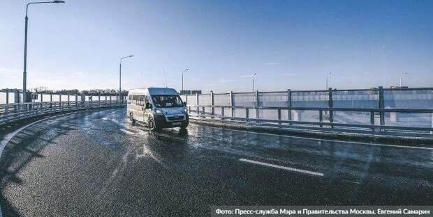Собянин осмотрел ход строительства развязки Волоколамского шоссе и МКАД