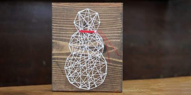 Новогодние украшения на дачу: декоративное панно