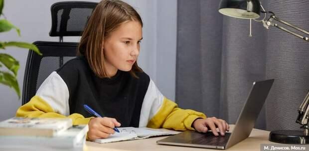 Дистанционное обучение помогло 5 тыс детей избежать COVID-19. Фото: М. Денисов mos.ru
