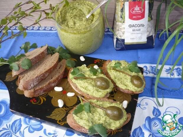 Паста из белой фасоли с авокадо