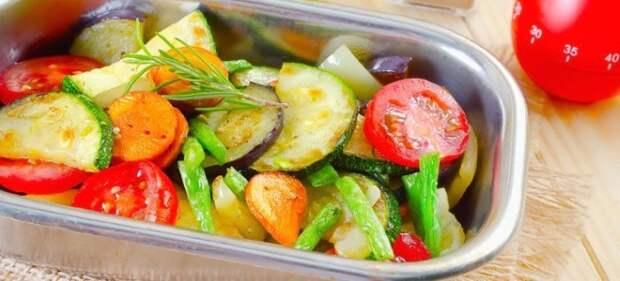 овощи в духовке запеченные крупными кусками рецепт