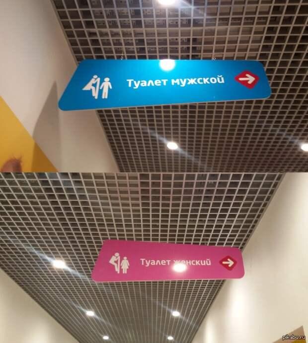 Вывеска туалетов