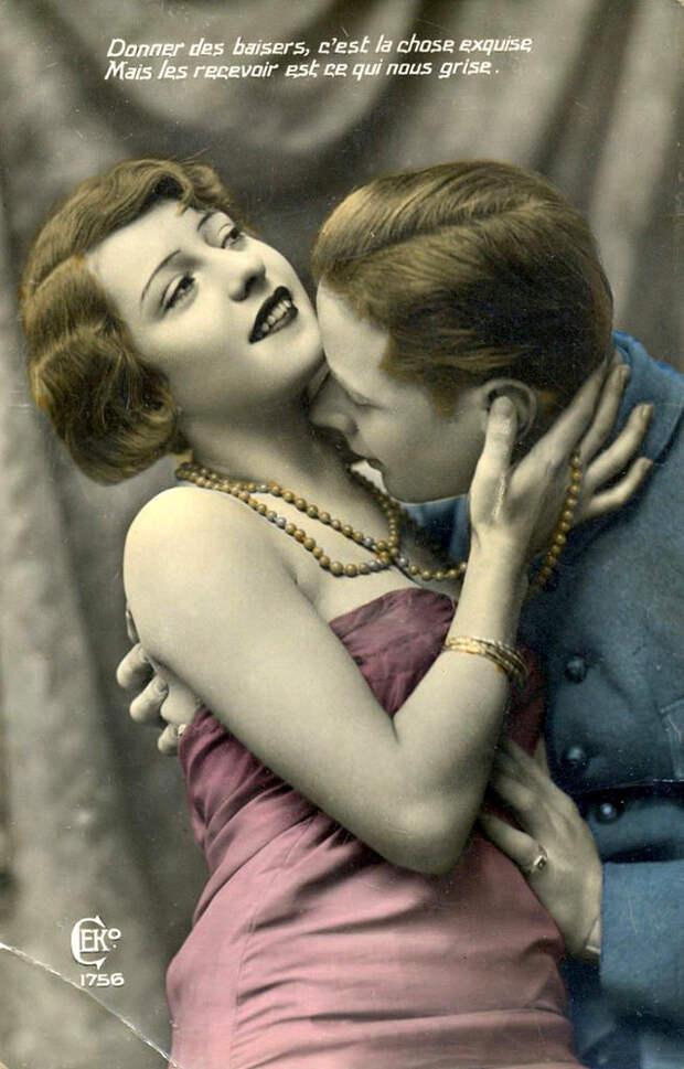 Французские открытки, в которых показано, как романтично целовались в 1920-е годы 10