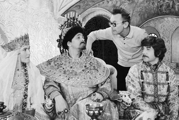 Леонид Гайдай на съемках любимых комедий.