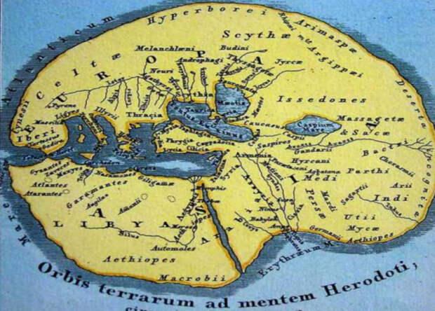 Карта Геродота.