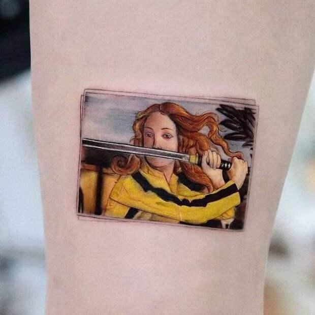 Татуировки Хакана Адика, сочетающие в себе знаменитые картины и персонажей поп-культуры
