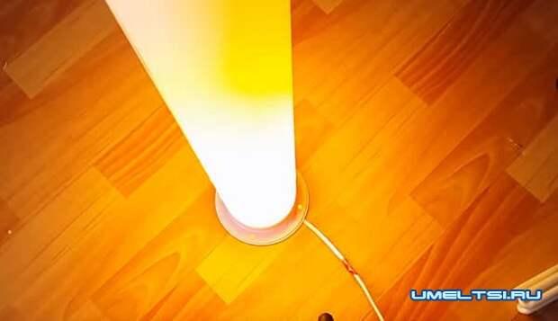 Как сделать диодный светильник из ПВХ трубы