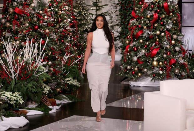 Ким Кардашьян на шоу Эллен Дедженерес
