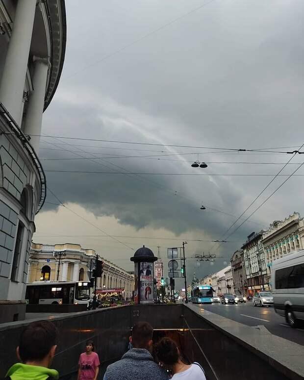 В Петербурге ждут дожди — сегодня, завтра и послезавтра. Возможны грозы, ливни и похолодание  ️