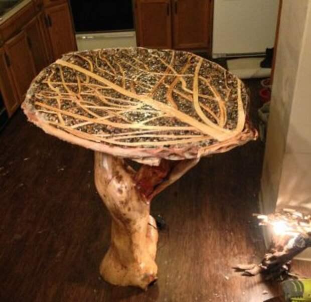 МАСТЕРИЛКА. Журнальный столик из веток дерева