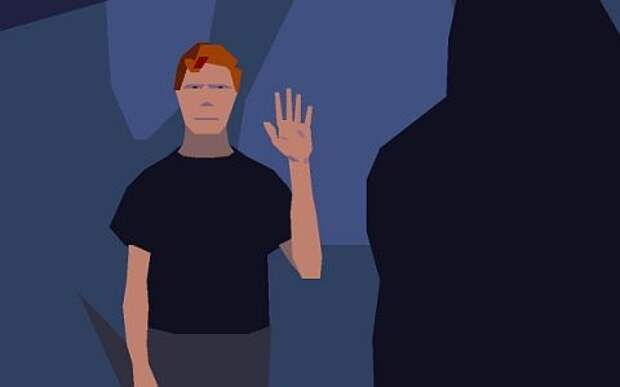 Попав в иной мир, молодой землянин из компьютерной игры Another World демонстрирует туземцу, что он пришёл с добрыми намерениями. Но даже на нашей планете это может означать что угодно.