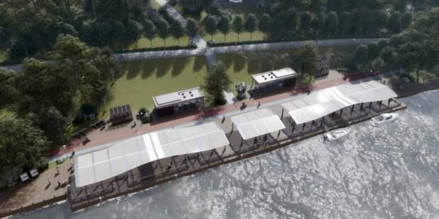 На Карамышевской набережной реконструируют два речных причала