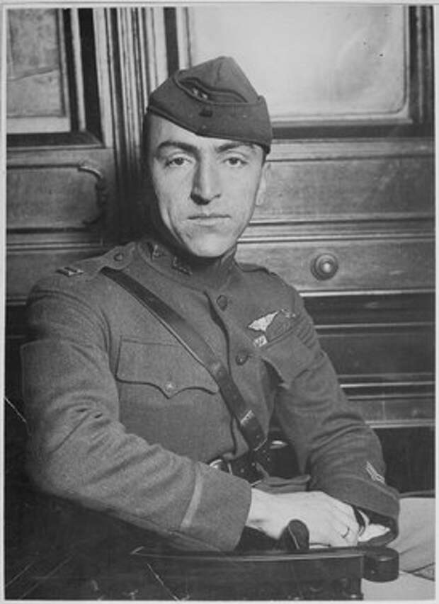 """Captain Edward Rickenbacker, America's premier """"Ace"""" officially credited with 22 enemy planes and the proud wearer of th - NARA - 533720.tif"""