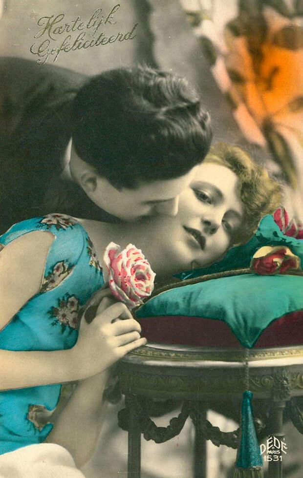 Французские открытки, в которых показано, как романтично целовались в 1920-е годы 9