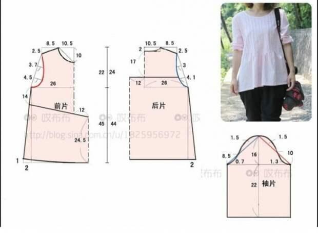 Простая выкройка летней блузы