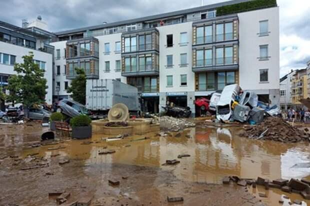 Из-за наводнения в Германии без вести пропали более тысячи человек