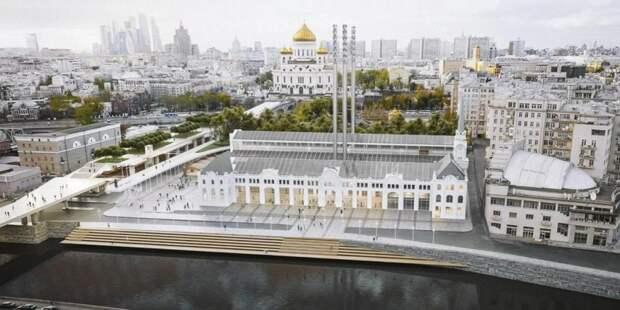 Собянин: Реставрация исторической ГЭС-2 вышла на финишную прямую. Фото: mos.ru