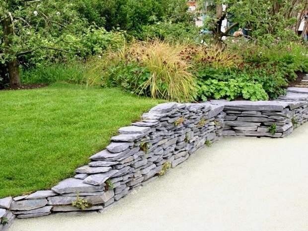 Подпорная стена из бетона: технология, фото, чертежи, дренаж