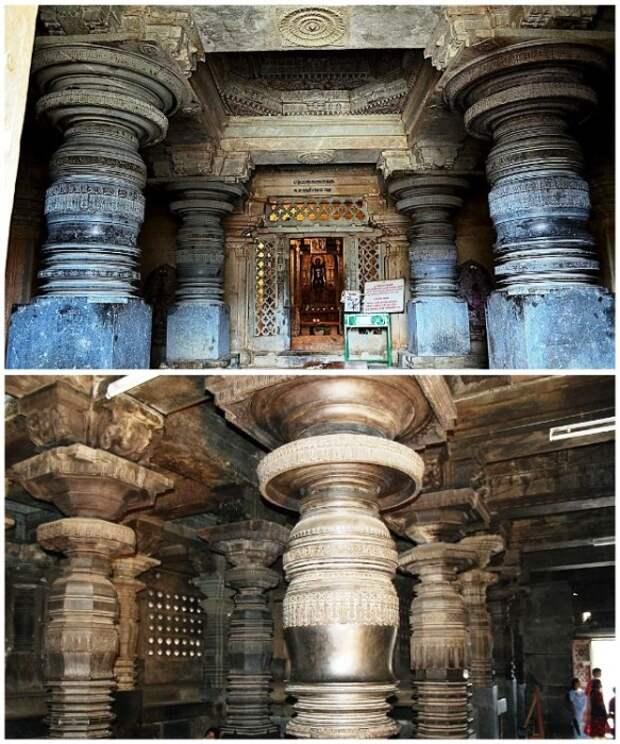 Резные колонны Шраванабелагола являются одной и самых красивых и загадочных творений, дошедших до наших дней (Индия). | Фото: zhiznteatr.mirtesen.ru.