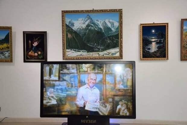 В Карачаево-Черкесии открылась выставка картин ветерана Отечественной войны Константина Ткачева