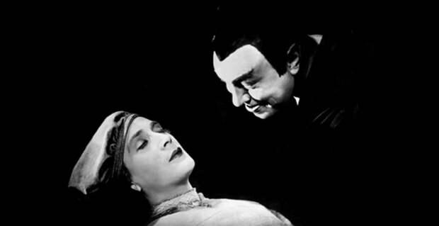 Э.Яннингс насъемках фильма Ф.В.Мурнау «Фауст». 1926