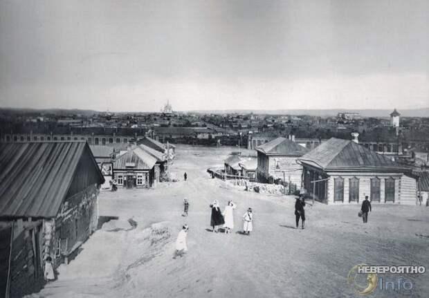 Почему на фото деревень Российской Империи нет травы и деревьев?