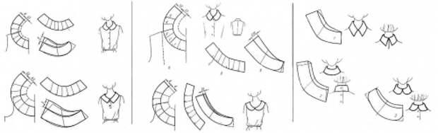 выкройки съемных воротничков