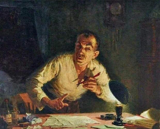 """Л. Фаттахов. """"Кляузник"""". 1953"""