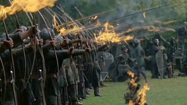 Огненные стрелы в жизни применялись гораздо реже, чем в кино. /Фото: talesoftimesforgotten.com